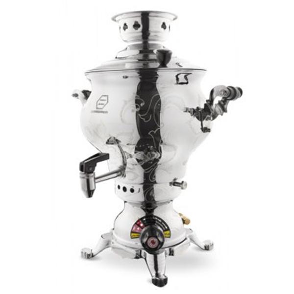 سماور گازی ماری تراش پایه ذغالی مجهز به ترموکوپل استاندارد GTM-144